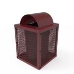 Square Trash Receptacle – 32 Gallon