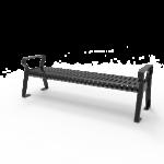Downtown Strap Metal Bench 6′