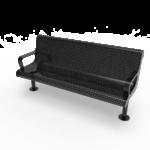 Contoured Park Bench