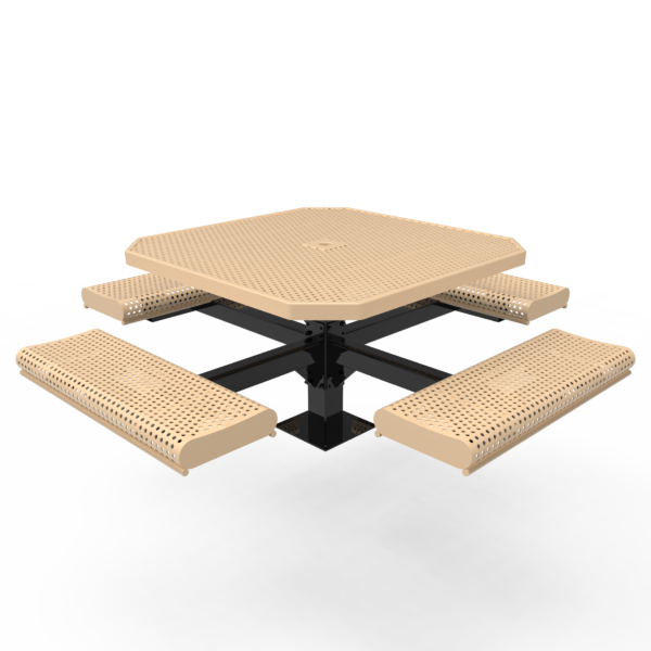 Children's Octagonal Pedestal Table with Rolled Seats