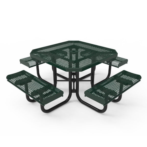 Octagonal Portable Table with Rolled Seats