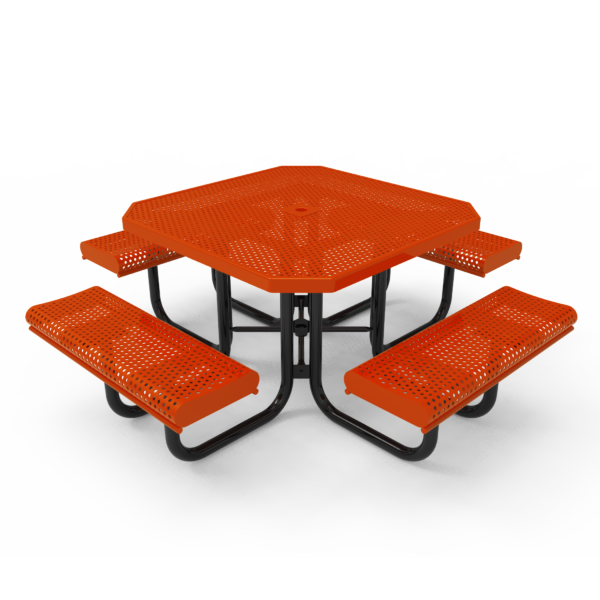 Children's Octagonal Portable Table with Rolled Seats
