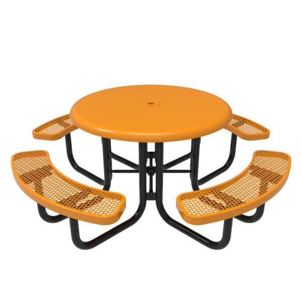 Round Solid Top Portable Picnic Table