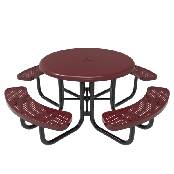 Children's Round Solid Top Portable Picnic Table